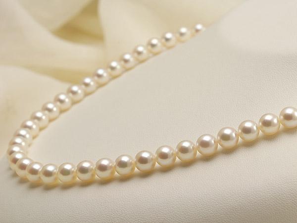 【真珠の本場 伊勢志摩よりお届け】淡い優しいピンクが魅力♪7.0〜7.5mmあこや本真珠準花珠パールネックレス(鑑別書付)【39236】