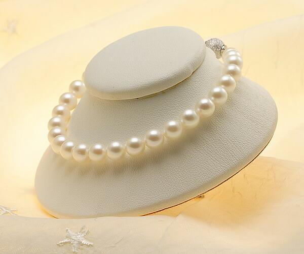 【真珠の本場 伊勢志摩よりお届け】ほのかな淡い優しい色目♪6.5-7.0mmあこや本真珠パールブレスレット【bl0008】