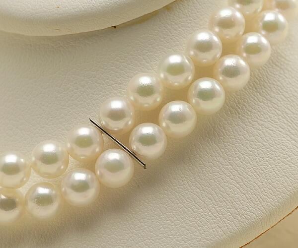 【真珠の本場 伊勢志摩よりお届け】ピンクグリーンの美しい色目♪5.5-6.0mmあこや本真珠2連パールブレスレット【bl0018】