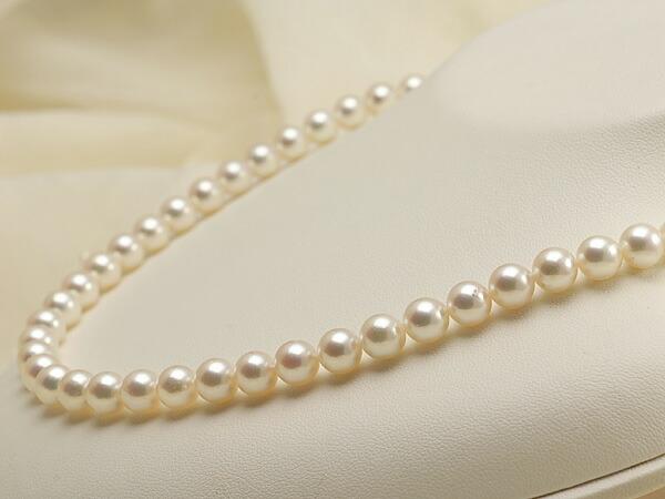 【真珠の本場 伊勢志摩よりお届け】7.0〜7.5mm優しい淡いピンク♪あこや本真珠ネックレス【nc0100】