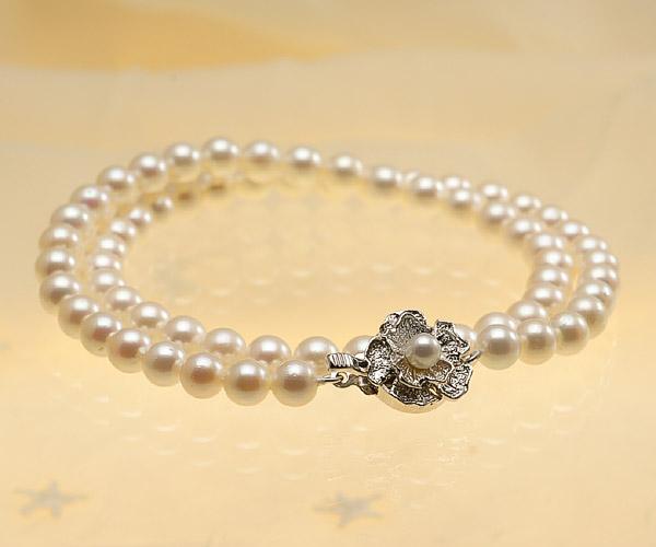 【真珠の本場 伊勢志摩よりお届け】6.0-6.5mm淡い優しいピンク♪あこや本真珠パールネックレス【nc0253】