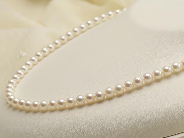 【真珠の本場 伊勢志摩よりお届け】5.5-6.0mm淡い優しいピンク♪あこや本真珠パールネックレス【nc0358】