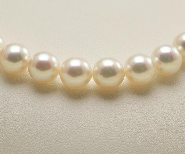 【真珠の本場 伊勢志摩よりお届け】7.5-8.0mm深みのあるピンクが魅力的♪あこや本真珠ネックレス【nc0548】