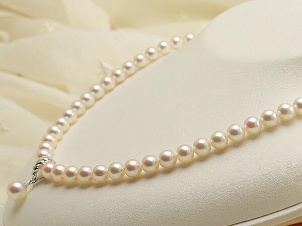 【真珠の本場 伊勢志摩よりお届け】華やかピンク♪7.0-7.5mm あこや本真珠ネックレス(トップ付)【nc0647】