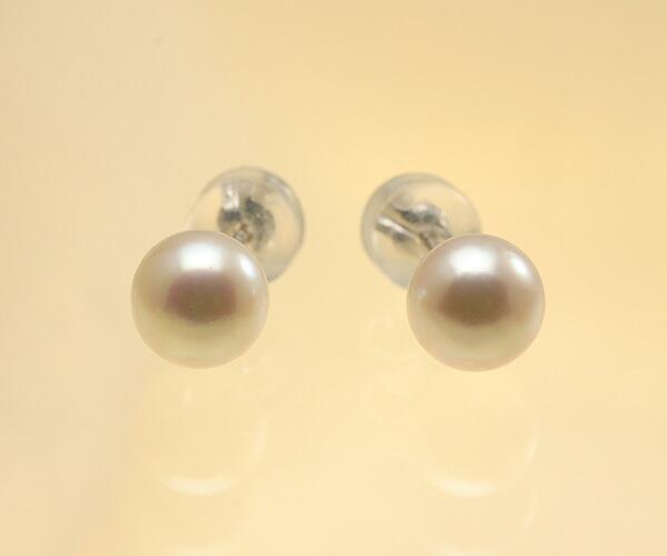 【真珠の本場 伊勢志摩よりお届け】可愛いピンクパール♪6.0mmあこや本真珠ピアス【pi0123】