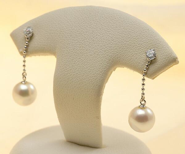 【真珠の本場 伊勢志摩よりお届け】優しいピンクの真珠♪7.0mmあこや本真珠ピアス【pi0215】