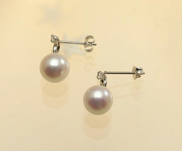 【真珠の本場 伊勢志摩よりお届け】淡いピンクパールが可愛い♪7.0mmあこや本真珠ピアス【pi0216】