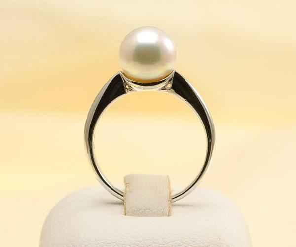 【真珠の本場 伊勢志摩よりお届け】ピンクの色目が美しい♪8.0mmあこや本真珠プラチナパールリング【rg0001】