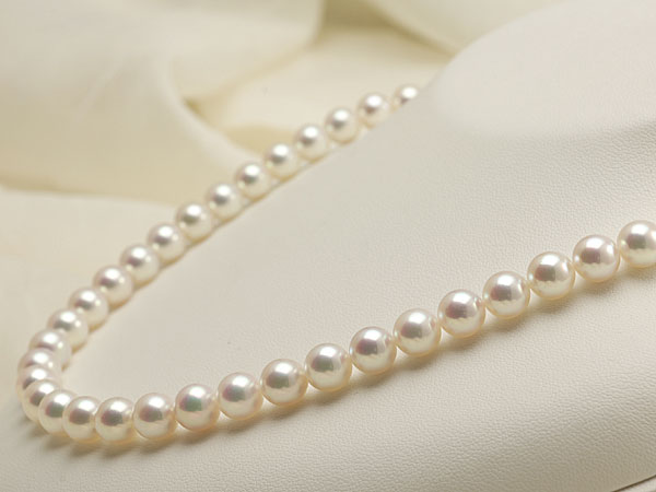 【真珠の本場 伊勢志摩よりお届け】深みのあるピンクが魅力♪7.5〜8.0mmあこや本真珠花珠パールネックレス(鑑別書付)【1376317】