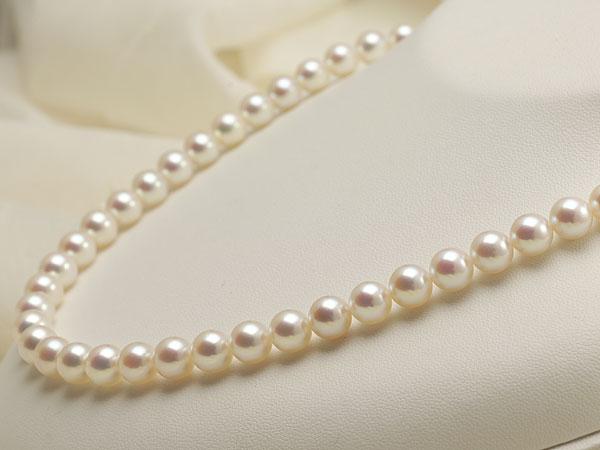 【真珠の本場 伊勢志摩よりお届け】優しいピンクが魅力♪7.5-8.0mmあこや本真珠準花珠パールネックレス(鑑別書付)【137969】