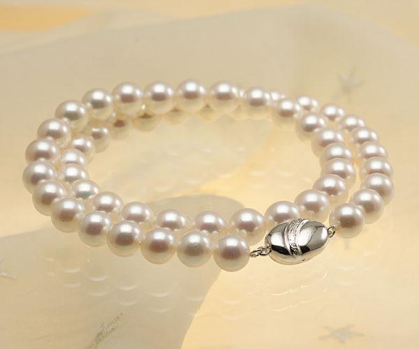 【真珠の本場 伊勢志摩よりお届け】明るく華やかなピンク♪8.0-8.5mmあこや本真珠準花珠ネックレス(鑑別書付)【137973】