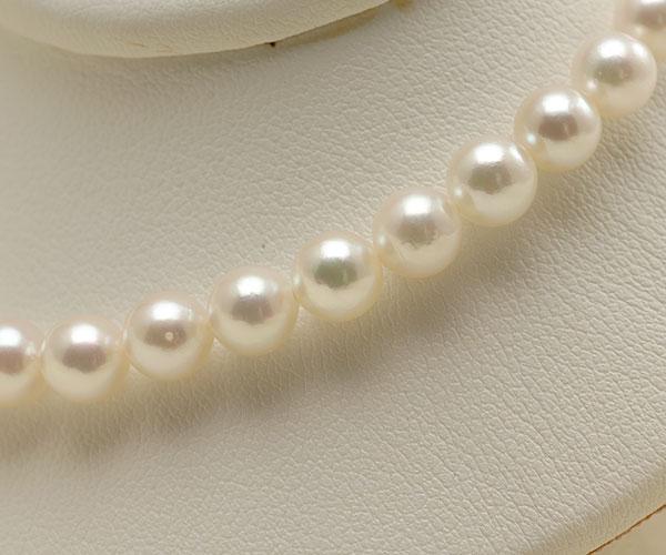 【真珠の本場 伊勢志摩よりお届け】ほんのり淡い優しいピンク♪5.5-6.0mmあこや本真珠パールブレスレット【bl0065】