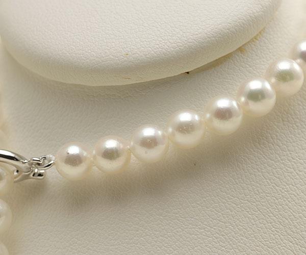【真珠の本場 伊勢志摩よりお届け】ほのかに淡いピンクグリーン♪あこや本真珠パールブレスレット【bl0067】