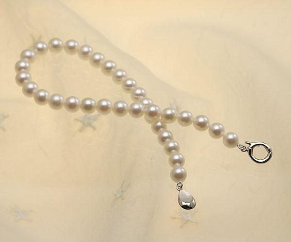 【真珠の本場 伊勢志摩よりお届け】ほんのりピンクが広がる♪6.0mmあこや本真珠パールブレスレット【bl0073】