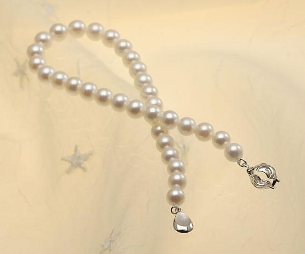 【真珠の本場 伊勢志摩よりお届け】淡い優しいピンク色♪6.0mmあこや本真珠パールブレスレット【bl0078】