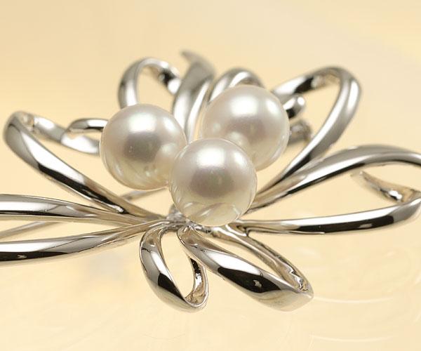 【真珠の本場 伊勢志摩よりお届け】淡いピンクが美しい♪7.5mmあこや本真珠パールブローチ【br0071】