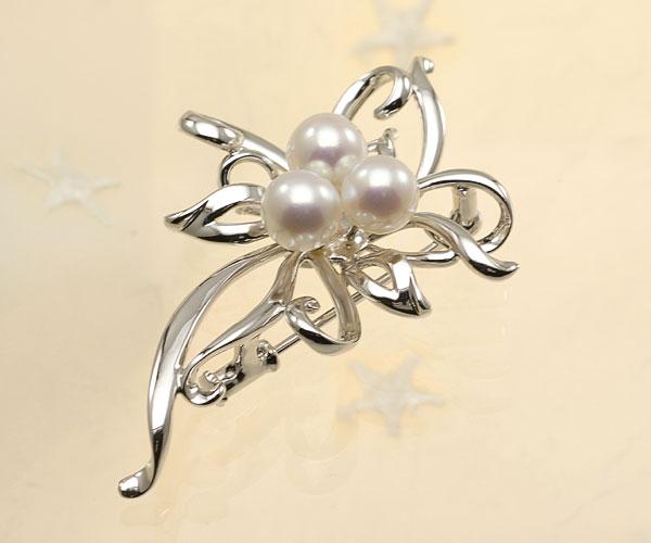【真珠の本場 伊勢志摩よりお届け】深みあるピンクが魅力♪7.0mmあこや本真珠パールブローチ【br0075】