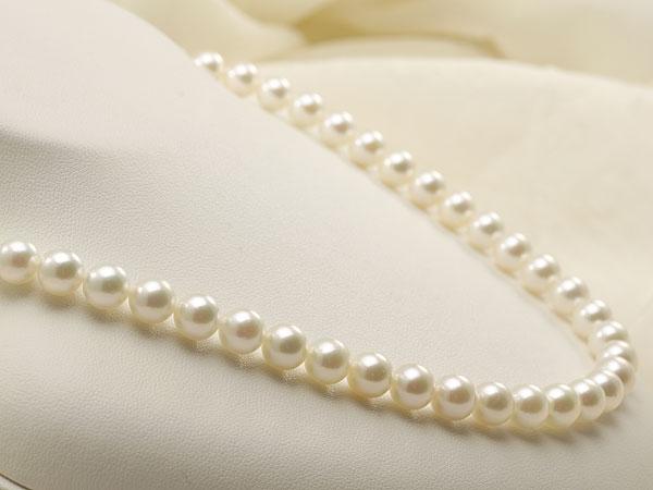 【真珠の本場 伊勢志摩よりお届け】上品グリーンが魅力♪7.5-8.0mmあこや本真珠ネックレス【nc0159】