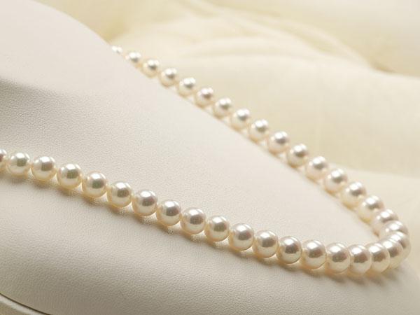 【真珠の本場 伊勢志摩よりお届け】華やかピンクにグリーン♪5.0-9.0mmあこや本真珠グラデーションネックレス【nc0532】