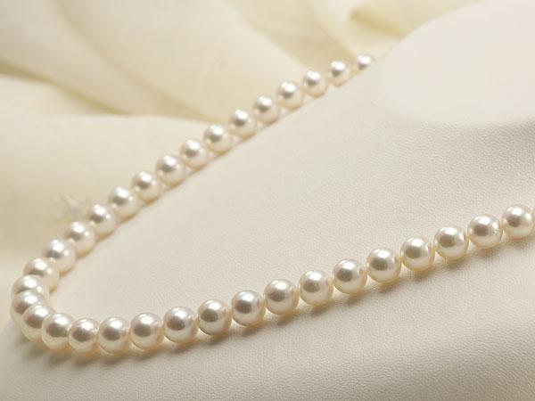 【真珠の本場 伊勢志摩よりお届け】深みのある色目が魅力♪5.0-9.0mmあこや本真珠グラデーションネックレス【nc0533】