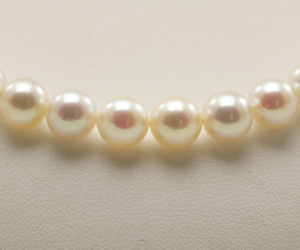 【真珠の本場 伊勢志摩よりお届け】7.0-7.5mm明るいピンクの色目♪あこや本真珠ネックレス・イヤリングセット【nc0579】