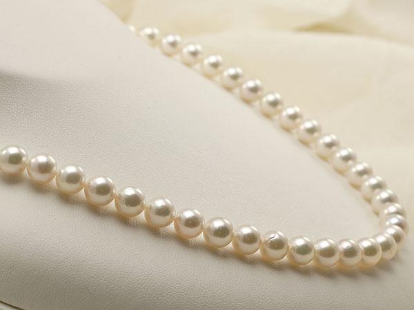【真珠の本場 伊勢志摩よりお届け】7.5-8.0mmピンクグリーンの綺麗な色目♪あこや本真珠ネックレス・ピアスセット【nc0589】
