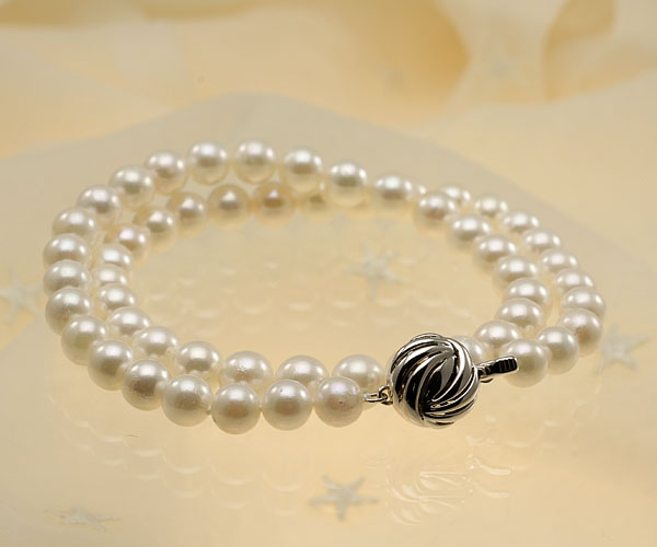 【真珠の本場 伊勢志摩よりお届け】ほんのり淡い色目♪7.0〜8.0mmあこや本真珠パールネックレス【nc0604】