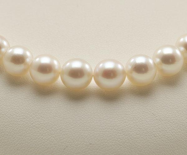 【真珠の本場 伊勢志摩よりお届け】淡い優しいピンク♪8.5〜9.0mmあこや本真珠パールネックレス