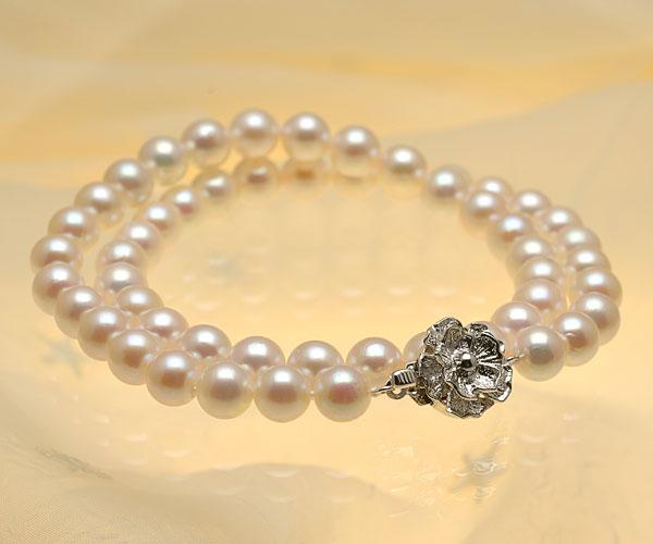 【真珠の本場 伊勢志摩よりお届け】7.5〜8.0mm淡いピンクグリーン♪あこや本真珠パールネックレス【nc0656】