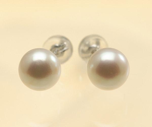 【真珠の本場 伊勢志摩よりお届け】深みのあるピンクが魅力♪7.5mmあこや本真珠パールピアス【pi0057】