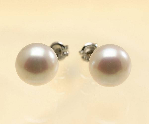 【真珠の本場 伊勢志摩よりお届け】しっかりと出たピンクが魅力♪8.0mmあこや本真珠ピアス【pi0075】
