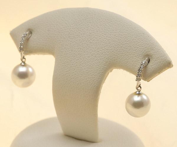 【真珠の本場 伊勢志摩よりお届け】ピンクの真珠とダイヤの輝き♪7.0mmあこや本真珠ピアス【pi0213】