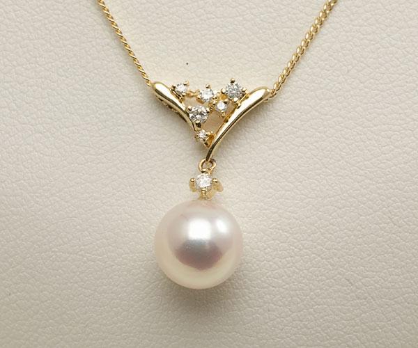【真珠の本場 伊勢志摩よりお届け】深みのあるピンクが魅力<br>8.0mmあこや本真珠ペンダントトップ【pt0083】