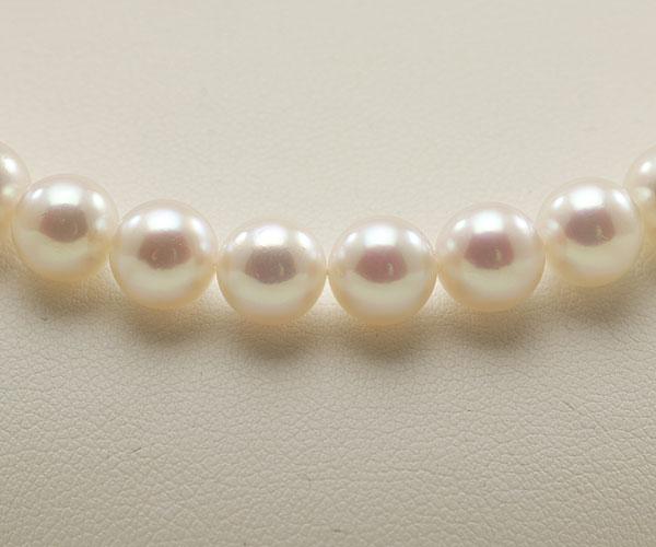 【真珠の本場 伊勢志摩よりお届け】深みのあるピンクが魅力♪7.5〜8.0mmあこや本真珠花珠パールネックレス(鑑別書付)【048673】