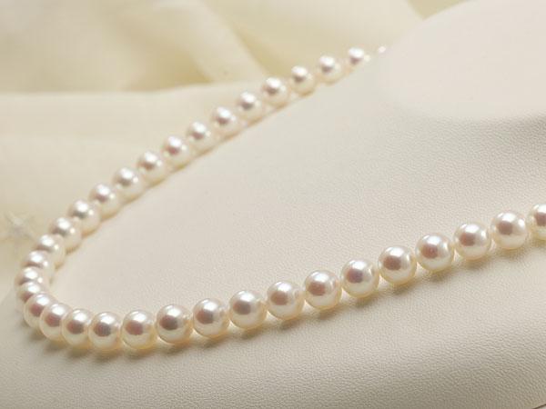 【真珠の本場 伊勢志摩よりお届け】深みのあるピンクが魅力♪7.5〜8.0mmあこや本真珠花珠パールネックレス(鑑別書付)【0486737】