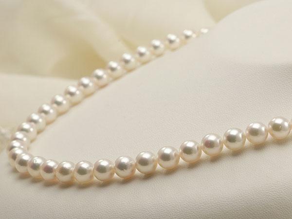【真珠の本場 伊勢志摩よりお届け】ピンクグリーンの美しい色目♪7.5-8.0mmあこや本真珠パールネックレス・イヤリングセット【nc0245】