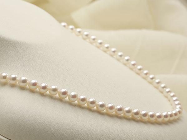 【真珠の本場 伊勢志摩よりお届け】5.5-6.0mm明るいピンクの色目が美しい♪あこや本真珠パールネックレス【nc0360】