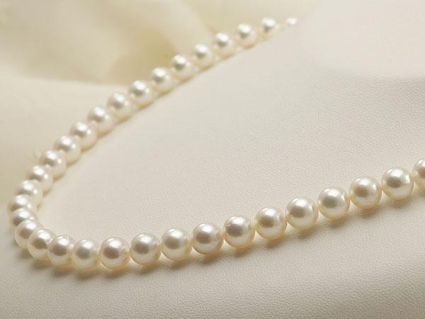 【真珠の本場 伊勢志摩よりお届け】7.5-8.0mm優しく淡いピンクの色目♪あこや本真珠ネックレス・イヤリングセット【nc0581】