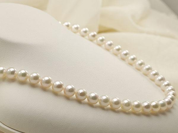 【真珠の本場 伊勢志摩よりお届け】7.5-8.0mm明るいほのかなピンクグリーン♪あこや本真珠ネックレス・イヤリングセット【nc0582】