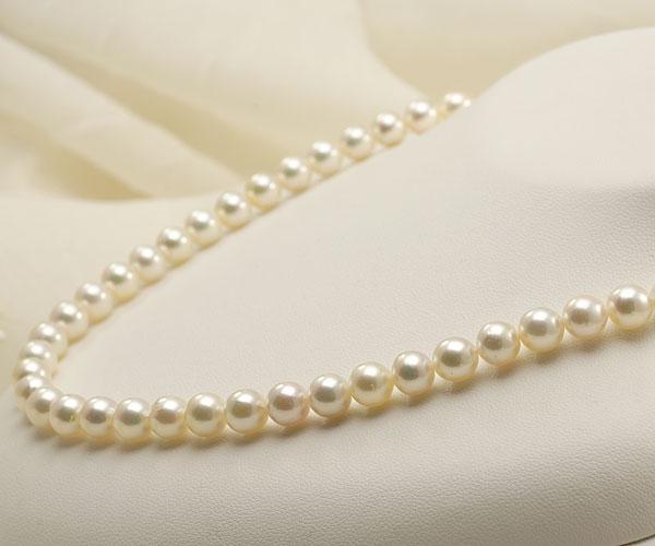 【真珠の本場 伊勢志摩よりお届け】7.0-7.5mm干渉色が美しい♪あこや本真珠ネックレス・イヤリングセット【nc0586】