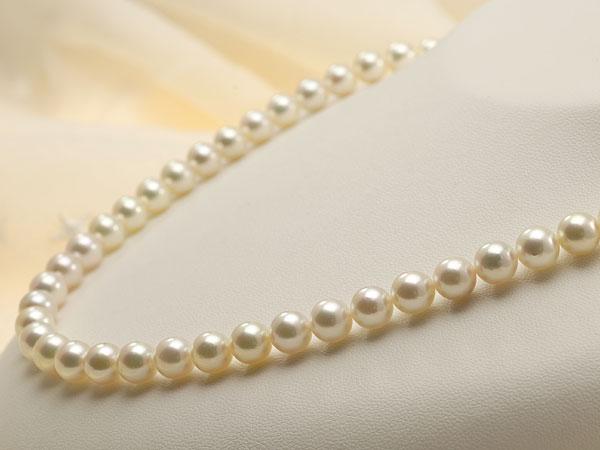 【真珠の本場 伊勢志摩よりお届け】7.0-7.5mm華やかさのある色目♪あこや本真珠ネックレス・イヤリングセット【nc0587】