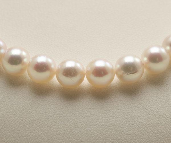 【真珠の本場 伊勢志摩よりお届け】7.5-8.0mm華やかなピンクの色目♪あこや本真珠パールネックレス【nc0756】