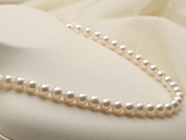 【真珠の本場 伊勢志摩よりお届け】7.5-8.0mm淡いピンクが魅力的♪あこや本真珠パールネックレス【nc0757】