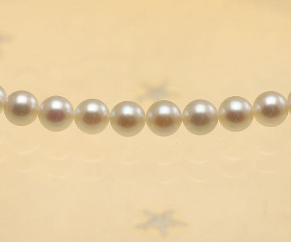 【真珠の本場 伊勢志摩よりお届け】ほのかな淡い優しいピンク♪6.5〜7.0mm あこや本真珠念珠(数珠)【ry0021】