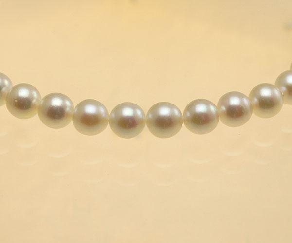 【真珠の本場 伊勢志摩よりお届け】ほんのりピンクの上品な色目♪6.5〜7.0mm あこや本真珠念珠【ry0028】