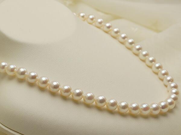【真珠の本場 伊勢志摩よりお届け】8.0-8.5mmほんのり優しいピンク♪あこや本真珠ネックレス・ピアスセット【nc0185】