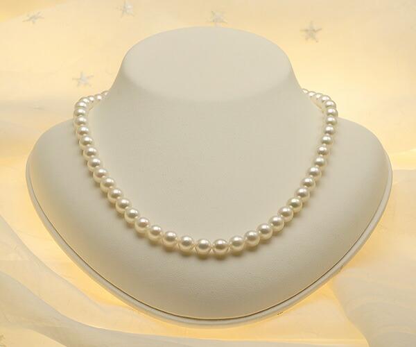 【真珠の本場 伊勢志摩よりお届け】淡い干渉色が美しい♪7.0〜7.5mmあこや本真珠パールネックレス【nc0315】