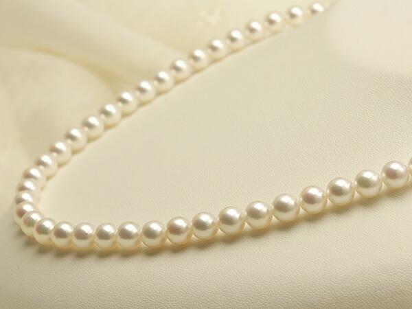 【真珠の本場 伊勢志摩よりお届け】美しい淡いピンク♪6.5-7.0mmあこや本真珠パールネックレス【nc0397】
