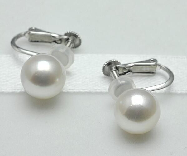 【真珠の本場 伊勢志摩よりお届け】上品ピンクのツヤ肌真珠♪8.75mmあこや本真珠イヤリング(ネジバネ式)