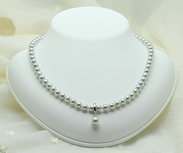 【真珠の本場 伊勢志摩からお届け】6.0mmあこや本真珠ネックレス(クリッカー付き)